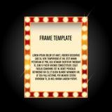 Light frame retro neon banner. Light frame retro,shining light banner,neon sign Royalty Free Stock Images