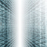 Light Framework. With Green Glass Stock Image
