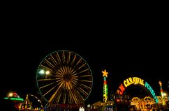 Light of funfair in night Royalty Free Stock Photo
