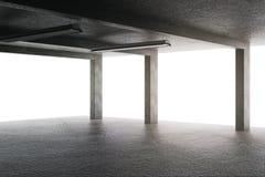 Light garage with columns royalty free illustration