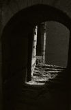 Light gate. Rome, Colosseum. A gate towards the light, a gate to the past Stock Photos