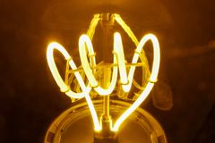 Light generated by a light bulb. Macro effect of a Light generated by a new generation bulb Royalty Free Stock Images
