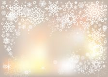 Light gentle magic snowflakes graphic vector background Royalty Free Stock Images