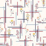 Light and gentle Seamless pattern delicate meadow many kind of vector illustration