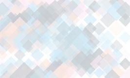 Light geometric background. Light, translucent, transparent squares with overlapping Backdrop in a modern minimalist style. Light geometric background. Light Royalty Free Stock Photos