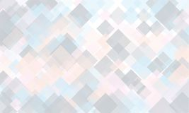 Light geometric background. Light, translucent, transparent squares with overlapping Backdrop in a modern minimalist style. Light geometric background. Light Royalty Free Stock Photography