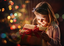 Light in giftbox Royalty Free Stock Image
