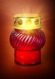 Light on glass lamp Stock Image