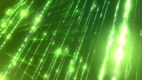 Light glittering cyberspace modelled aslant. Flaring 3d rendering of a sci-fi cyberspace with spirals, lines, arcs, and spots connected in a number of shining Stock Image