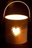 Light glow from bucket Stock Photo