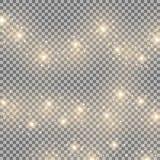 Light glow effect, star bursts, golden color. Light glow effect stars bursts with sparkles, isolated on transparent background, golden color Stock Photo