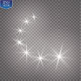 Light glow effect stars bursts with sparkles isolated on transparent background. EPS 10 Stock Photography
