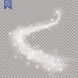 Light glow effect stars bursts with sparkles isolated on transparent background. EPS 10 Royalty Free Stock Image
