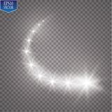 Light glow effect stars bursts with sparkles isolated on transparent background. EPS 10 Stock Images