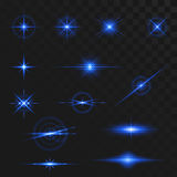Light glow flare effects Royalty Free Stock Photography