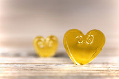 Light Golden Hearts Royalty Free Stock Images