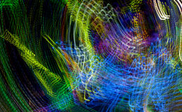 Light Graffiti - Colorful lights in Motion Royalty Free Stock Images