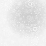 Light-gray abstract background with snowflake Stock Images