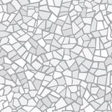 Light gray abstract mosaic seamless pattern. Vector background. Endless texture. Ceramic tile fragments. Light gray abstract mosaic seamless pattern. Vector stock illustration
