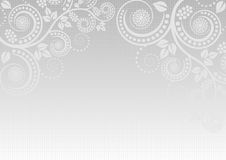 Light gray background. With floral ornaments Royalty Free Stock Images