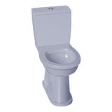 Light gray ceramic toilet bowl Stock Photo