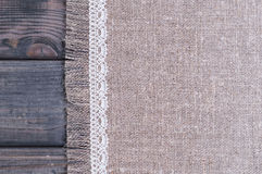 light gray fabric from flax coarse burlap Royalty Free Stock Image