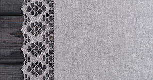 light gray fabric from flax coarse burlap Royalty Free Stock Photography