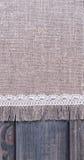 light gray fabric from flax coarse burlap Royalty Free Stock Photo