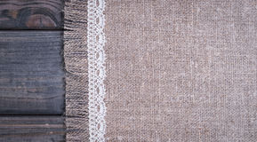 light gray fabric from flax coarse burlap Royalty Free Stock Images