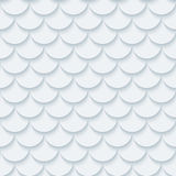 Light gray fish scale seamless background. Royalty Free Stock Images