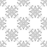 Gray floral pattern on white. Seamless background. Light gray floral ornament on white. Seamless pattern for textile and wallpapers Royalty Free Stock Image
