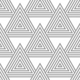 Light gray geometric ornament. Seamless pattern Stock Photography
