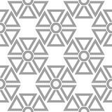 Light gray geometric ornament. Seamless pattern Stock Images