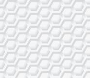 Light gray  geometry hexagon, seamless pattern. Royalty Free Stock Photos