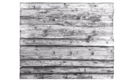Light gray Large wooden billboard isolated on white .wood texture. background old panels Royalty Free Stock Image