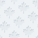 Light gray maple leaves wallpaper. Stock Photo