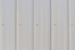 Light gray metal siding Royalty Free Stock Image