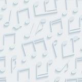 Light gray musical wallpaper. Stock Photo