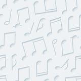 Light gray musical wallpaper. Royalty Free Stock Image