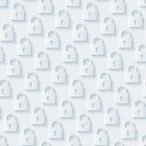 Light gray padlocks wallpaper. Stock Image