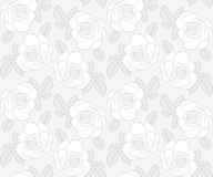 Light gray roses seamless pattern. Background Vector Illustration