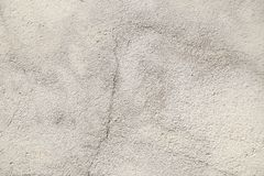 Close-up on a plastered wall. Light gray and rough surface of th royalty free stock image