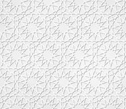 Light gray seamless symmetrical abstract vector background in arabian style  Stock Images