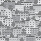 Light gray seamless  town Stock Photo
