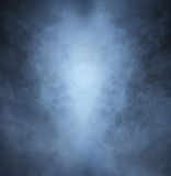 Light gray smoke on a black background. Halloween concept image Royalty Free Stock Image