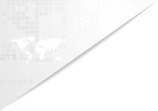 Light gray technology corporate background Stock Image