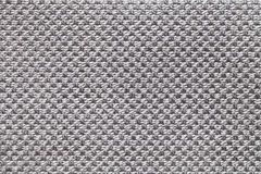 Light gray textile background with checkered pattern, closeup. Structure of the fabric macro. Stock Photos