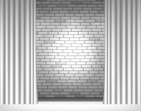 Light on gray wall Stock Images
