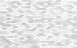 Light gray and white brick material textured retro wall background stock illustration