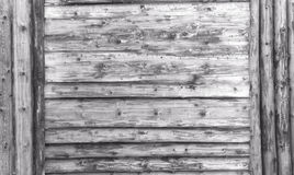 Light gray wood texture. background old panels with gray Large wooden shield, billboard Royalty Free Stock Photos